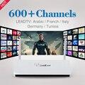 Leadcool árabe Iptv Caixa de TV Android Inteligente com 1 Ano Grátis Europa TV 600 Canais Canal Plus TV Sky Italia Francês Tunísia Alemanha