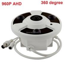 HD 1.3MP Analog High Definition AHD CMOS 960P 3Pcs Array Leds 20M IR-CUT Indoor Dome Camera 1.56mm 360degree fisheye lens