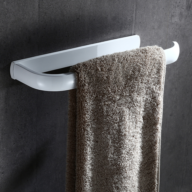 European Style Fashion Brass White Towel Ring Square Bath Towel Rings  Bathroom Accessories Towel Rack Bathroom