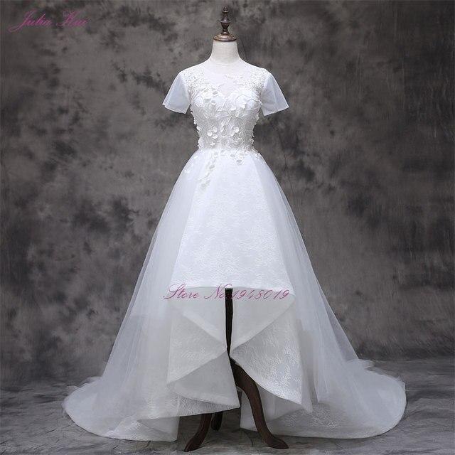 julia kui vestidos de novias with small 3d flower short sleeve a