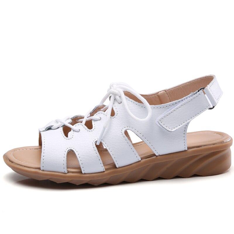 Women Ladies Strappy Open Toe Zipper Gladiator Flat Sandals Roma Shoes JJ