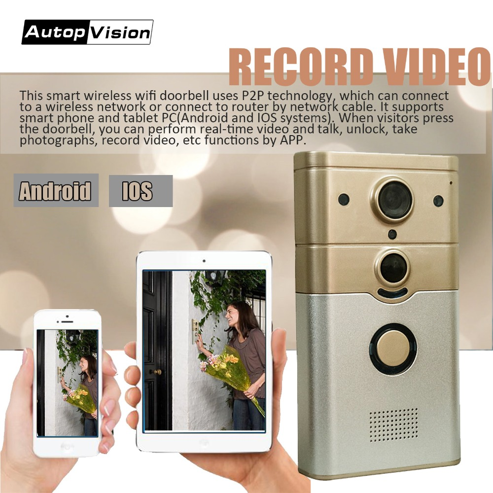все цены на ZJ008-C Video Intercom WI-FI Video Door Phone Ring Door Bell WIFI Doorbell Camera For Apartments PIR Alarm Wireless Security онлайн