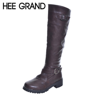 HEE GRAND 2017 New High Fashion Boots Riding Boots Female Autumn And Winter Knee High Boots