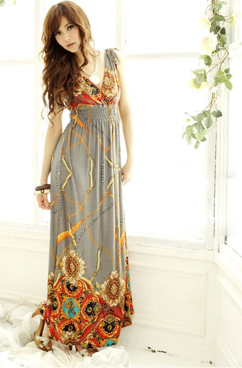 Aliexpress.com : Buy Free shipping Women Maxi Dress 2013 Cotton ...