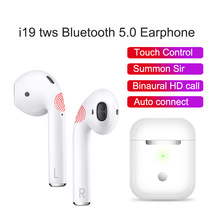 Get more info on the i19 TWS Bluetooth 5.0 earphones Touch Control wireless headphone with Mic 2019 new earbuds Air pods headsets PK i9s i10 i11 i12