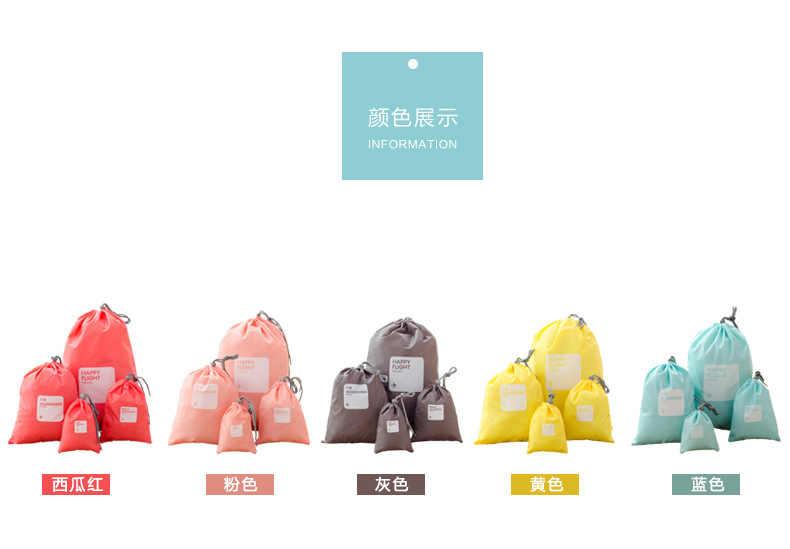 4 шт. портативный шнурок Водонепроницаемая дорожная сумка для книг игрушки подарок органайзер для обуви грязная одежда для хранения