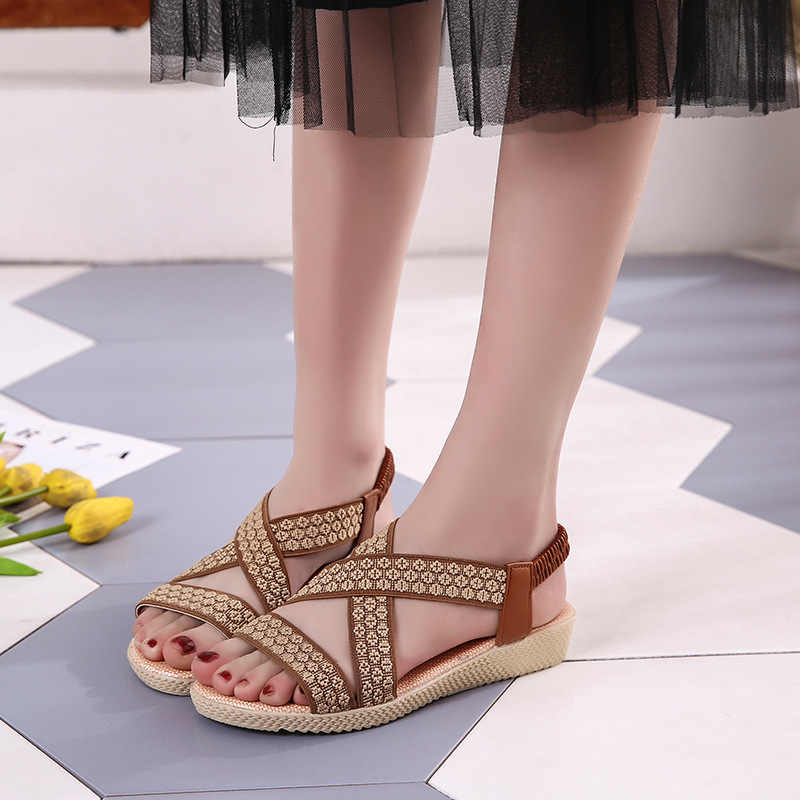72a737d831 Summer Sandals Women Casual Beach Flat Shoes 2018 New Arrival Bohemian  Sandles Gladiator Wedges Slingback Sandalias Mujer