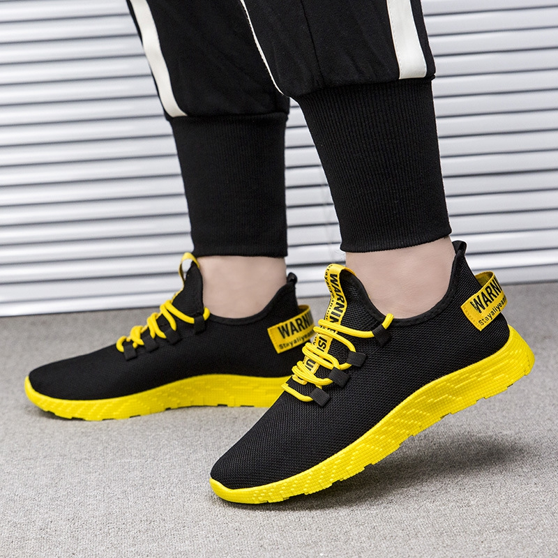 HTB19RMKa79E3KVjSZFGq6A19XXax - Mesh Shoes Men Fashion Casual Sneakers Lace Up Lightweight Breathable Walking Sneakers Tenis Masculino Zapatos Dropshipping