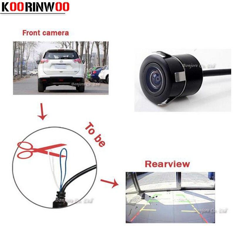 Автомобильная парковочная CCD камера Koorinwoo, универсальная фронтальная камера/камера заднего вида, помощь при парковке
