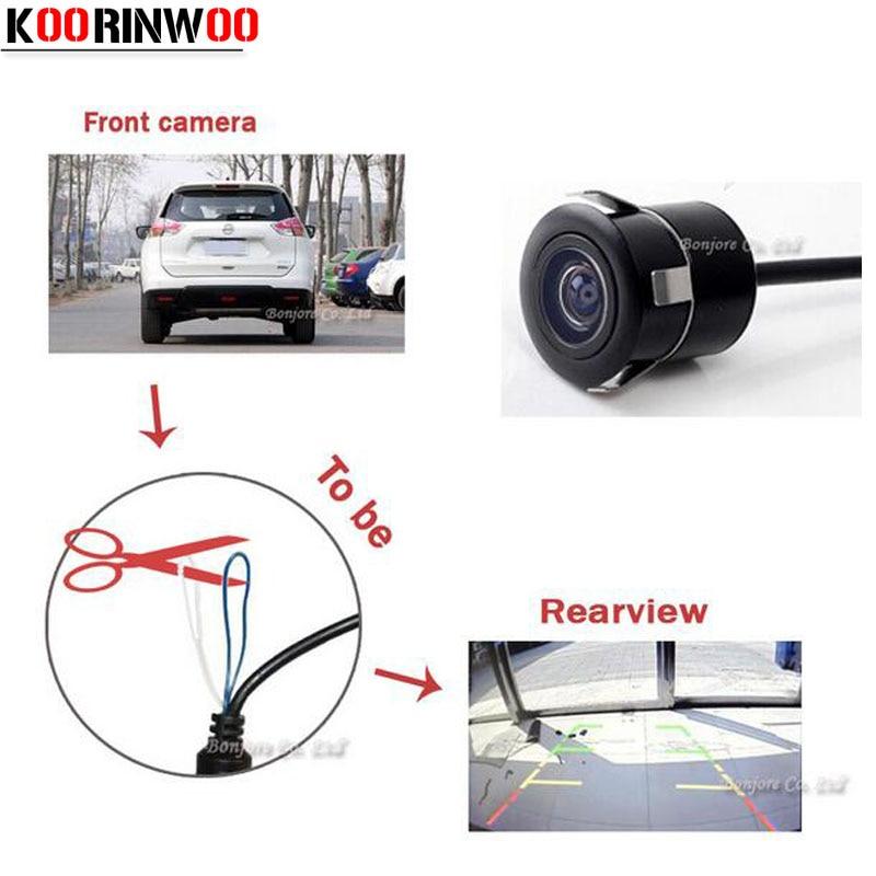 Koorinwoo Auto Parcare CCD Întrerupător de mașină Camera Universal Camera Cameră frontală / Vizualizare spate Camera Backup Reverse Asistență de parcare