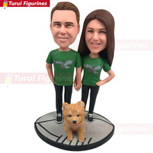 Philadelphia Eagles Personalized Wedding Cake Topper Vintage Bobble Head Eagle