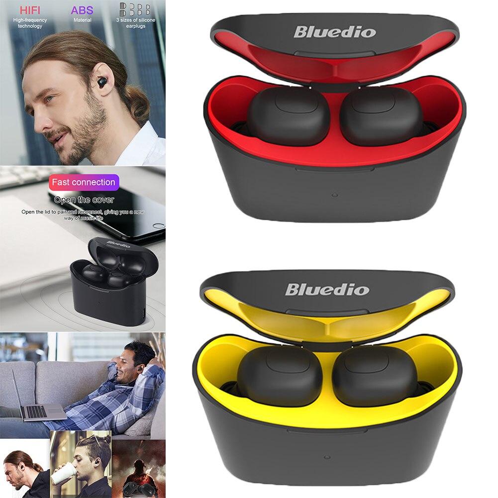 Bluedio Mini Bluetooth 5.0 Sports écouteurs vrais écouteurs sans fil avec boîte de charge