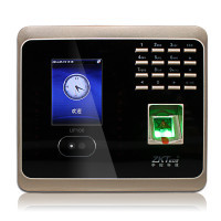 Biometric Facial Fingerprint Employee Time Attendance UF100Low Cost Face Recognition System Face Employee Time Clock in stock