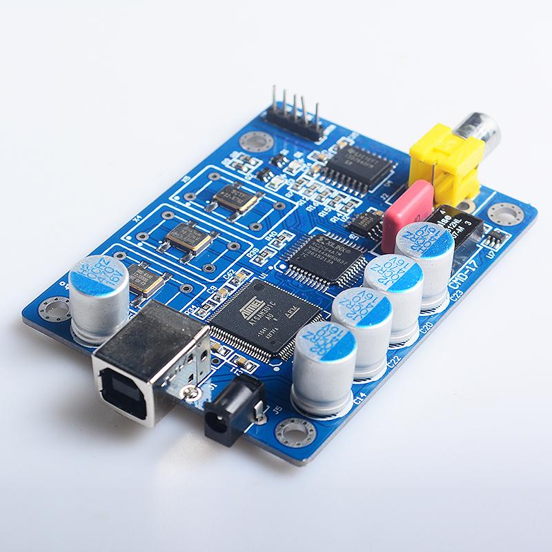 Prix pour NOUVEAU K. GuSS USB iis numérique interface WM8805 ATSAM3U1C XC2C64A DSD coaxial sortie