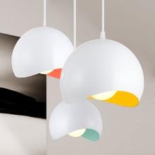 Modern Pendant Light Macaron Aluminum Living Room Pendant Lamp Dining Room Restaurant Hanging Lamp Bedroom Kitchen Hanging Lamps недорого