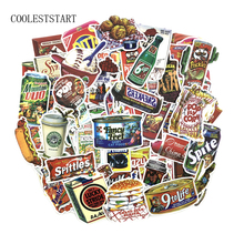 Pvc Stickers Snacks & Drinks 75Pcs