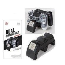 USB двойное зарядное устройство для геймпада Беспроводной игра док-контроллер Зарядка для источника питания станция Подставка для sony Playstation 4 PS4/SLIM/PRO