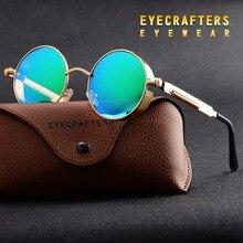 Gold Green Metal Polarized Sunglasses Gothic Steampunk Sunglasses Mens Womens Fashion Retro Vintage Shield Eyewear Shades 372