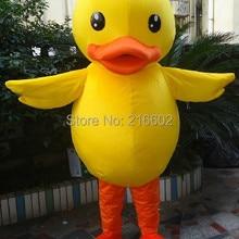 Высокое Качество Желтая утка костюм-талисман для взрослых костюм Утки