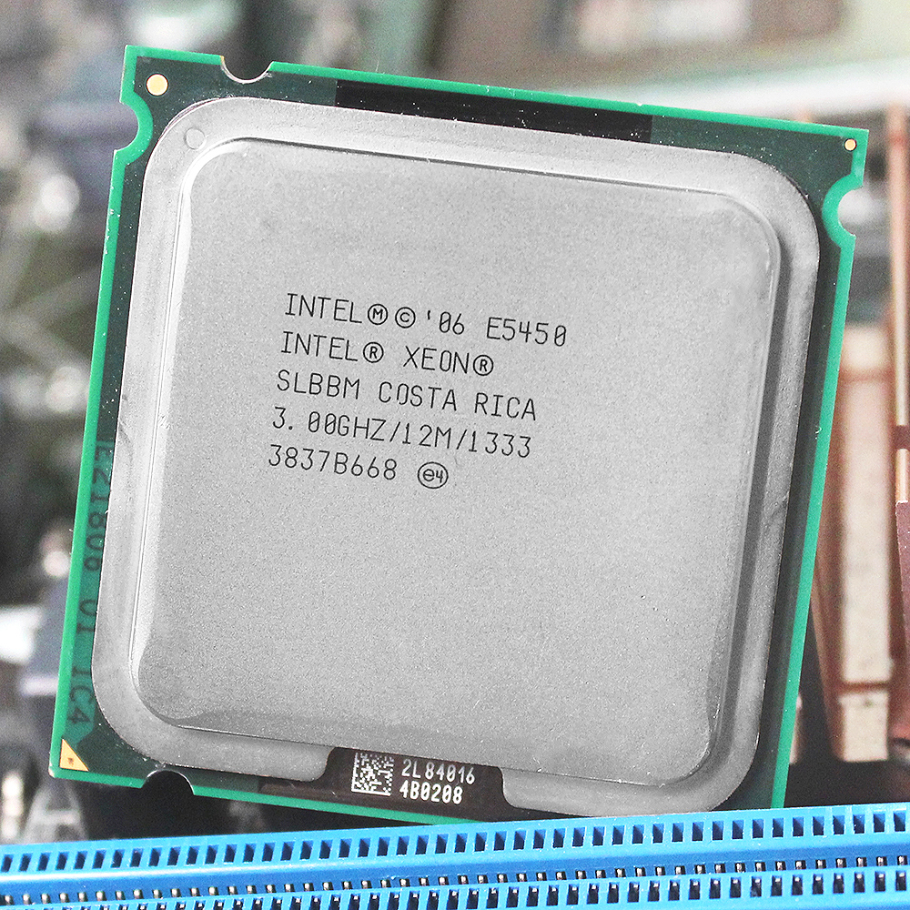INTEL XONE E5450 LGA 775 Quad Core Processor (3.0GHz/12MB/1333) Close To LGA 775 Q9650 With Two 771 to 775 Adapters original intel xeon x5472 775 processor 3 0ghz 12mb 1600mhz quad core 120w 771 to 775 cpu warranty 1 year