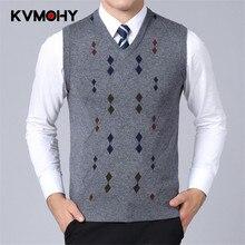 Mens Fine Knit Sweater Vest Men's Striped Pullover Sweater Hem Gentleman Slim Fit Casual Sweaters Sleeveless Pullovers