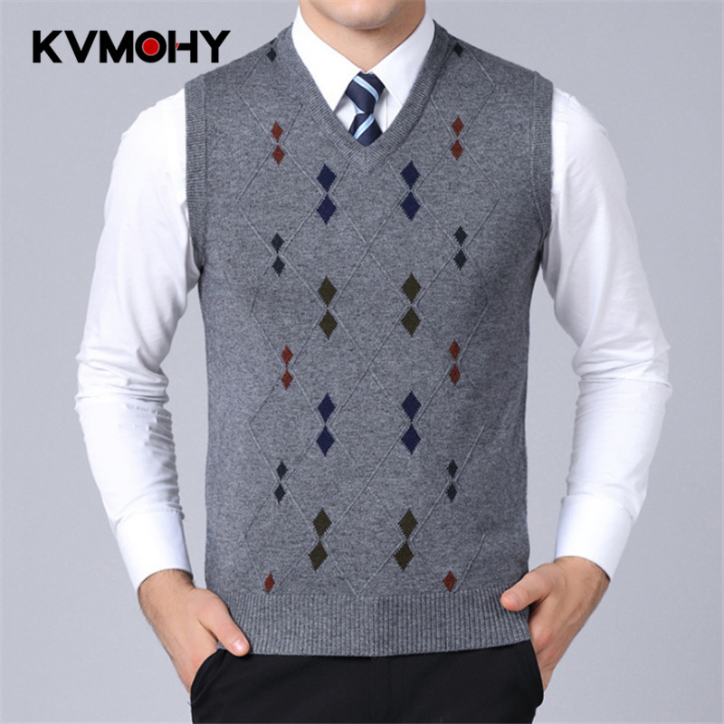 Mens Fine Knit Sweater Vest Men's Striped Pullover Sweater Hem Gentleman Slim Fit Casual Sweaters Sleeveless Pullovers