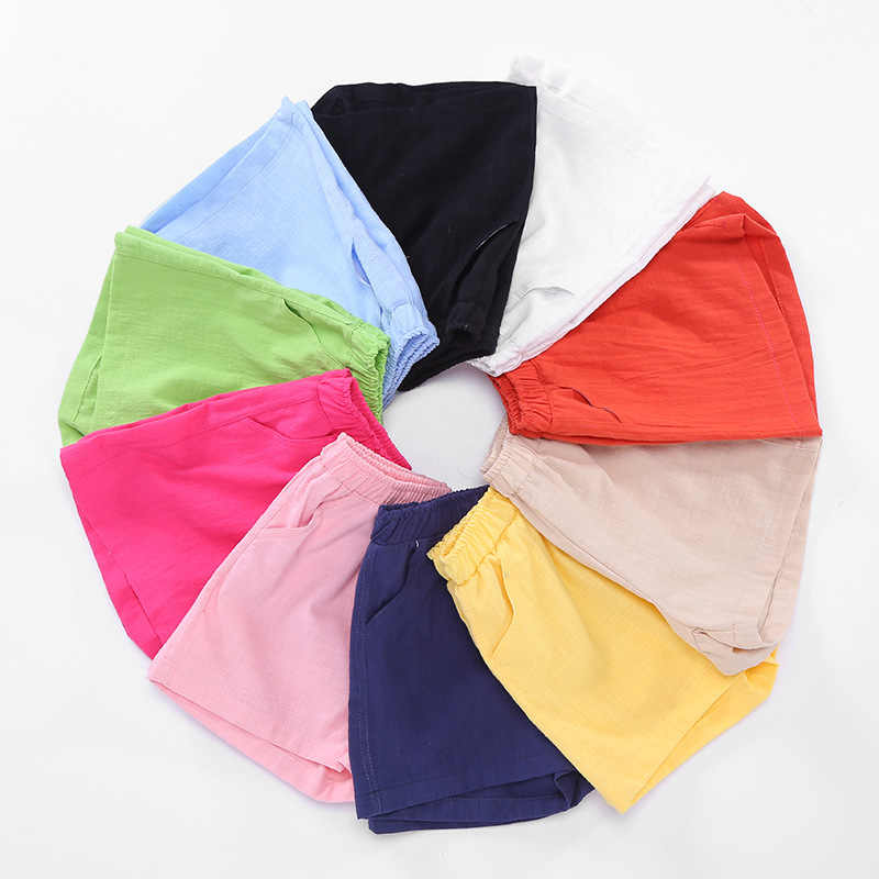 2019 nowy letni chłopcy dziewczyny spodenki melanżowa bluzka z bawełny dla dzieci dzieci Bloomers luźne krótkie spodnie spodnie plażowe nosić 2-10 lat