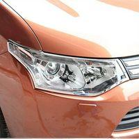Für Mitsubishi Outlander 2013 2016 Chrome Front Scheinwerfer Lampe Abdeckung Trim-in Chrom-Styling aus Kraftfahrzeuge und Motorräder bei