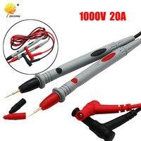 1 par sonda Universal prueba Pin para multímetro Digital, punta de aguja medidor Multi metro del probador de plomo Sonda de Cable de lápiz 20A