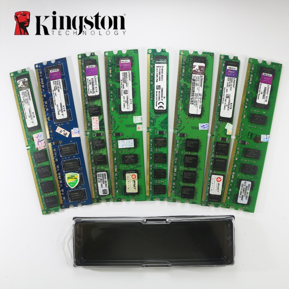 original Used Kingston 2GB DDR2 DDR3 800MHz 667Mhz Desktop RAM PC DIMM Memory RAM 240 pins 2g 4gb 8gb PC3 12800 10600 for intel цена