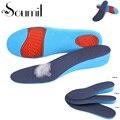 1 Par de Unisex Confortável Invisível Anti-slip PU Malha Respirável Altura Aumento Levante o Calcanhar Sapatos Palmilhas Taller Azul