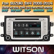 WITSON CAR DVD GPS For SUZUKI SX4 with Capctive Screen+1080P+DSP+WiFi+3G+DVR+Good Price+GIFT+Free shipping