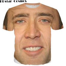 PLstar Cosmos T-shirt Summer style Fashion t shirt Nicolas cage Crazy funny Stare at you print 3d tshirts men/women top tees(China)