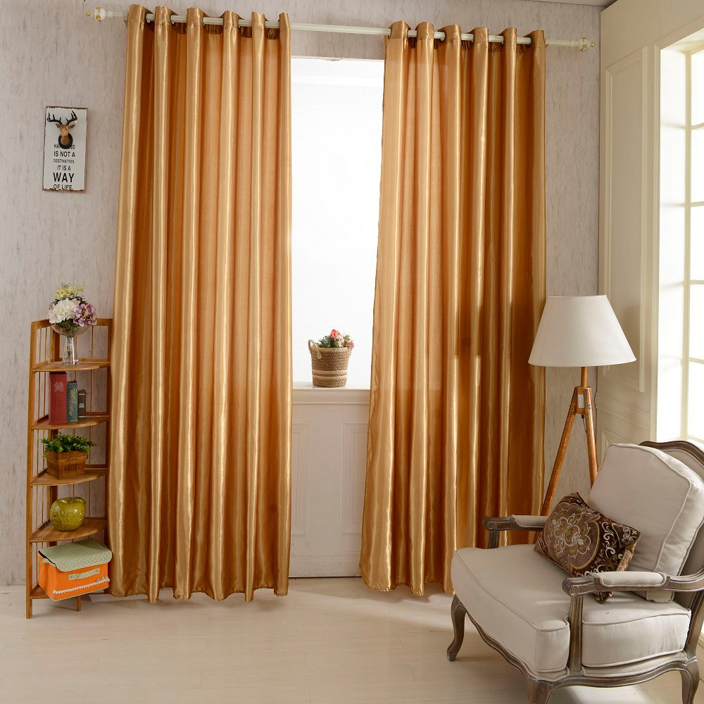 Colorful curtains for living room - 2pcs 1 2 5m Grommet Top Blackout Curtain Linings Panel Solid Bright Colored Window Curtains