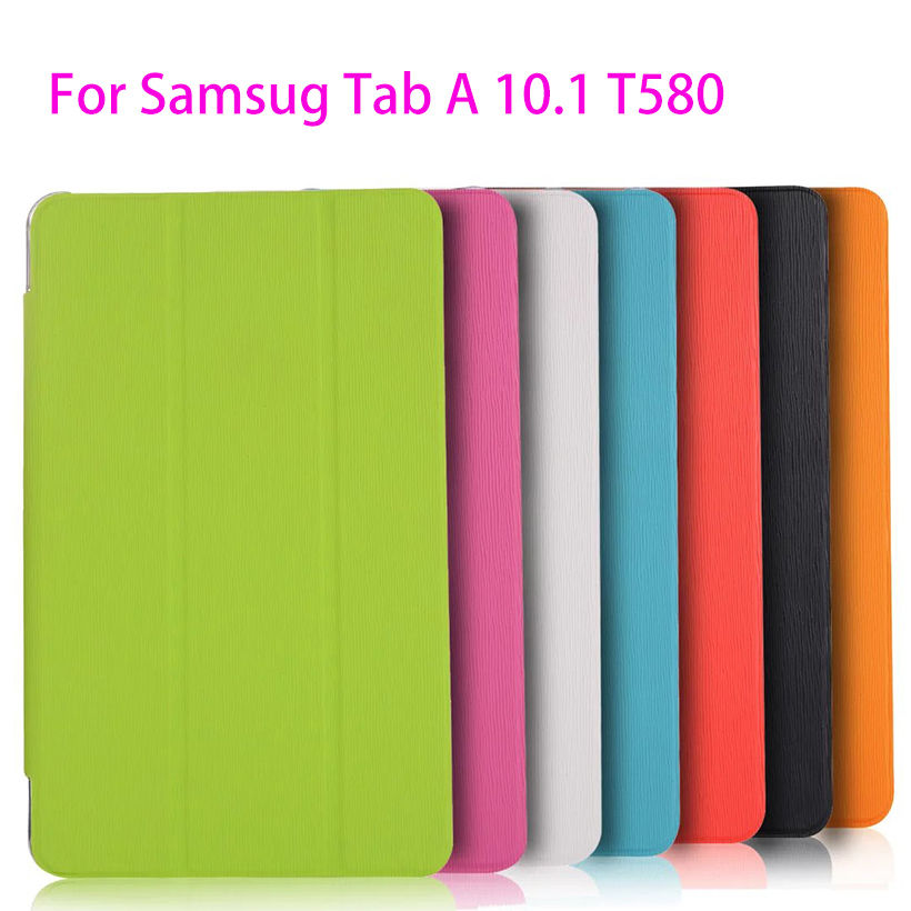 Ultra Slim Trifold Leather Case For Samsung Galaxy Tab A A6 10.1 2016 T580 T585 T580N Case Cover Funda Tablet Smart Skin Shell все цены