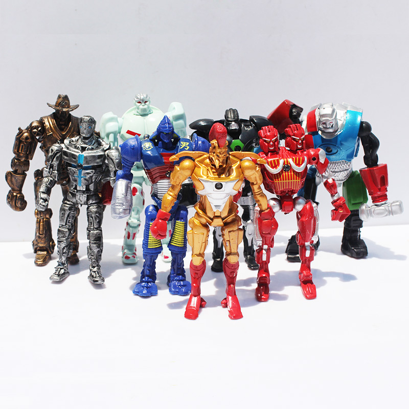 Image 2 - 8pcs/lot 12cm Real Steel Toys Atom Ambush Zeus Metro Twin Cities Noisy Boy Action Toy Figures Collection Model-in Action & Toy Figures from Toys & Hobbies