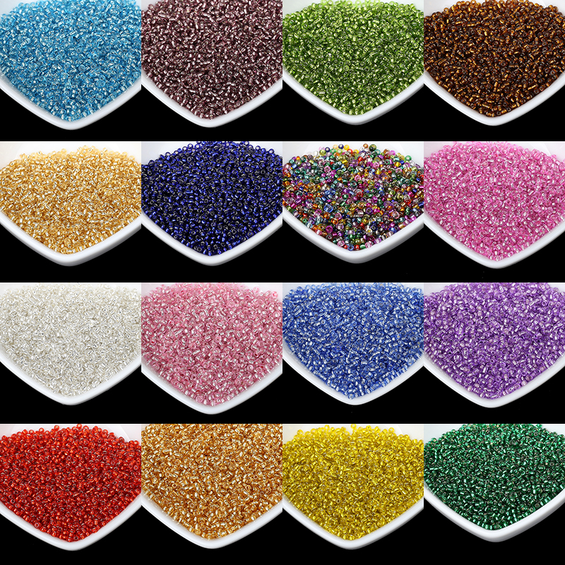 2MM Silver Lined Round Hole Czech Glass Seed Spacer Beads 1000pcs/lot Austria Crystal Round Beads For Kids DIY Jewelry Making