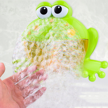 1PC Outdoor Bubble Frog&Crabs Baby Bath Toy Bubble Maker Swimming Bathtub Soap Machine Toys for Children with Music Water Toy