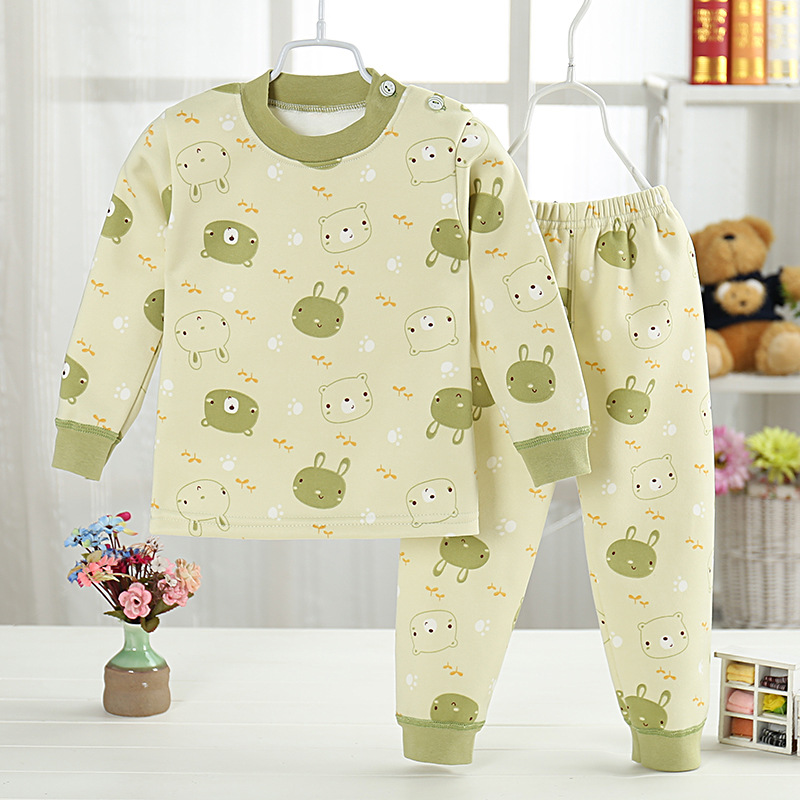 High quality Pullover Cartoon Baby boys and girls clothes Warm cotton Babys Sets M1801-M1812
