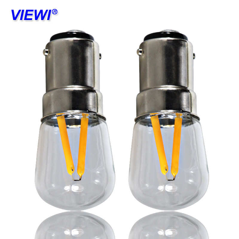1X Ampoule Led Filament Bulb B15 BA15D Candle Light 110v 220v 12v Power Supply 1.5W 150 Lumens Transparent Shell Spot Home Lamp