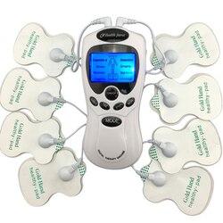 Decenas de cuerpo sano importa Digital meridian masajeador terapia máquina de corte Slim adelgazamiento muscular relajarse quemador de grasa dolor nueva 2*4 almohadillas de masaje