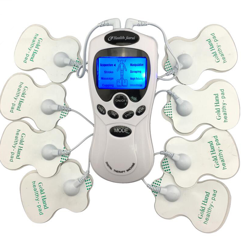 TENS Body Healthy care Digital meridian therapy massager machine Slim Slimming Muscle Relax Fat Burner pain new 2*4 pads massage 8 electrode tens body massager health care muscle relax digital therapy machine meridian physiotherapy therapy sculptor