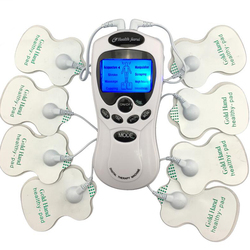 ZEHN Körper Gesunde pflege Digitale meridian therapie massager maschine Dünne Abnehmen Muskel Entspannen Fett Brenner schmerzen neue 2*4 pads massage