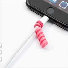 10Pcs Colorful Flexible Spiral Tube Cable Winder Protector Wire Cord Organizer Protetor for Apple Watch iPhone Charging Cable цена и фото