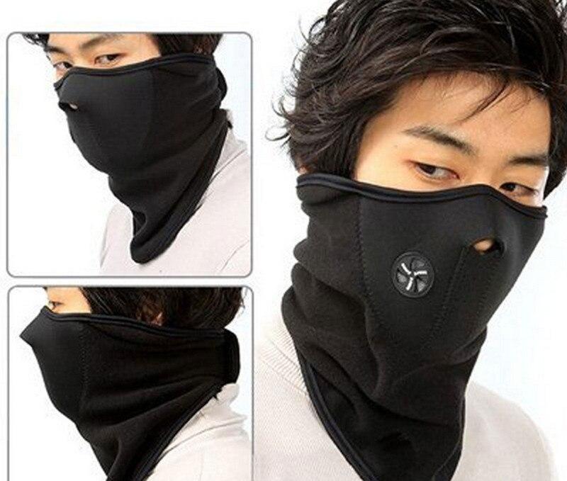 Ветрозащитная велосипедная маска Неопреновая Шея теплая полумаска для лица защита от пыли зимняя спортивная велосипедная Спортивная маска велосипедные аксессуары