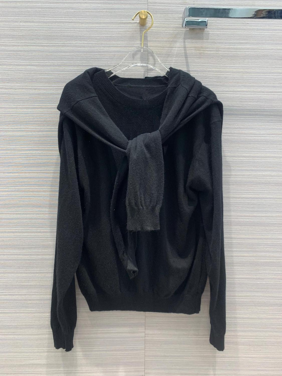 2019 new ladies fashion long sleeved sexy fake two piece stitching sweater 0713