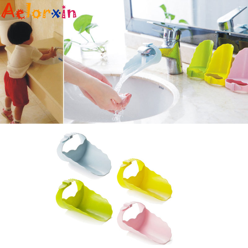 Baby Hand Washing Bathroom Tie Adjustable Water Saver Children's Guide Fruit And Vegetable Device Faucet Extender Baby Tubs