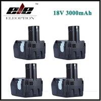 4x Eleoption 18V 3000mAh Battery for HITACHI Rechargeable Power Tool Li ion Battery for HITACHI BCL1815 BCL1830 EBM1830 327730