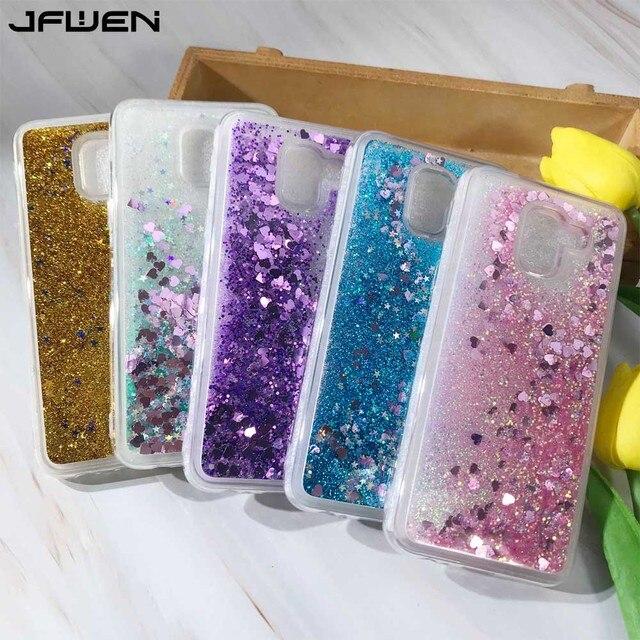 154b4e3781e43 JFWEN For Coque Samsung Galaxy J6 2018 Case Silicone Liquid Glitter Soft  TPU Phone Cases For