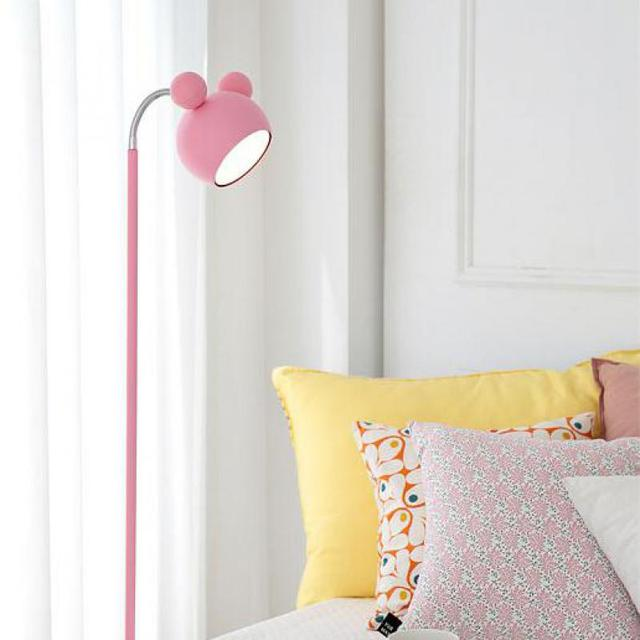 Japanese style Pink floor standing Lamp Tall Piano Light Kids LED floor lamp Girl Princess Study reading floor lights Lambader